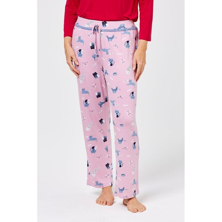 SASH & ROSE Kitten Knit Jersey Sleep Pant