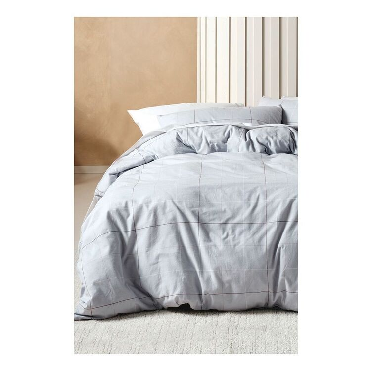 LINEN HOUSE STRATEN PRINTED FLANNELETTE QUILT COVERSET SUPER KING BED