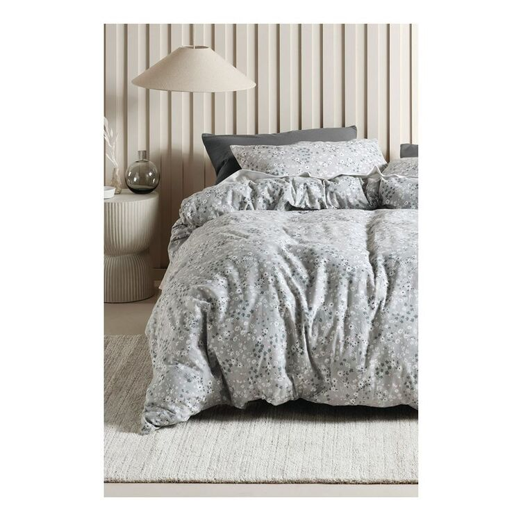 LINEN HOUSE AGGIE PRINTED FLANNELETTE QUILT COVER SET SUPER KING BED