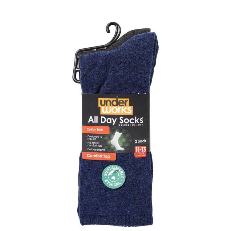 UNDERWORKS All Day Cushion Pattern Sock