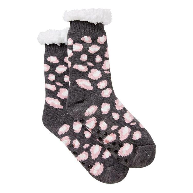 SASH & ROSE Sherpa Slipper Sock