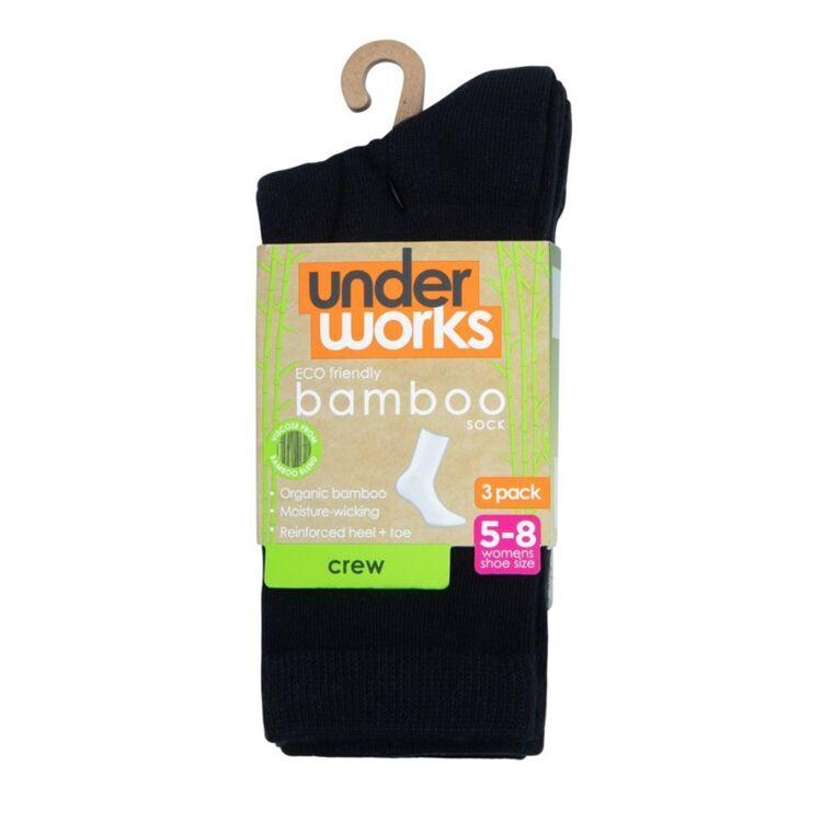 UNDERWORKS 3 Pack Organic Bamboo Casual Crew Sock