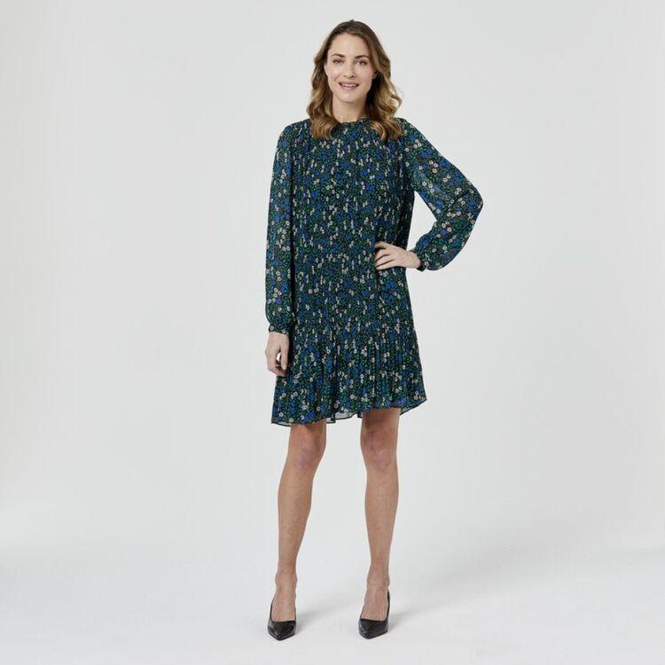 JANE LAMERTON Smock Pleat Dress