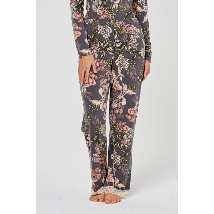 JANE LAMERTON Winter Floral Lace Jersey Pant