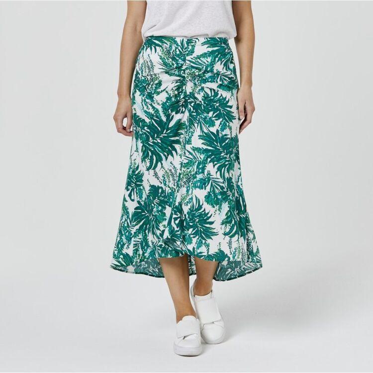 JB JAYSON BRUNSDON Tropical Midi Skirt