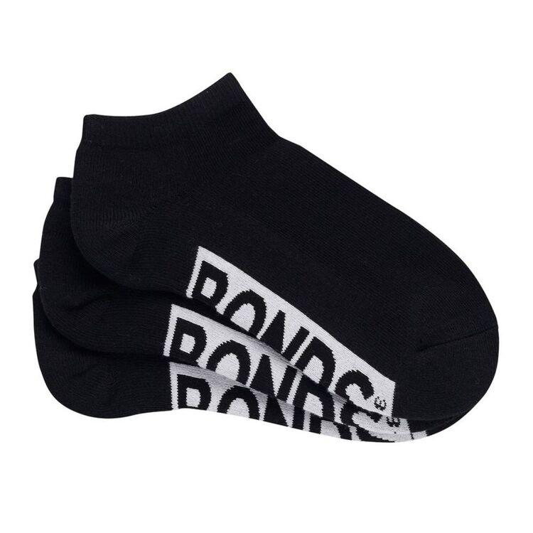 BONDS 3 Pack Logo Low Cut Socks