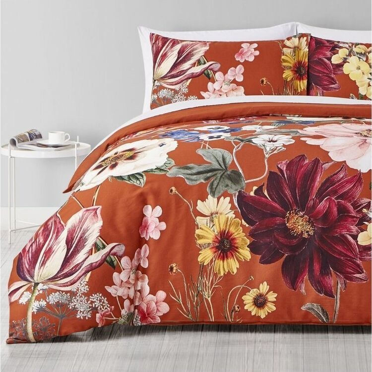 SHAYNNA BLAZE UTOPIA 300 THREAD COUNT COTTON SATEEN QUILT COVER SET SUPER KING BED