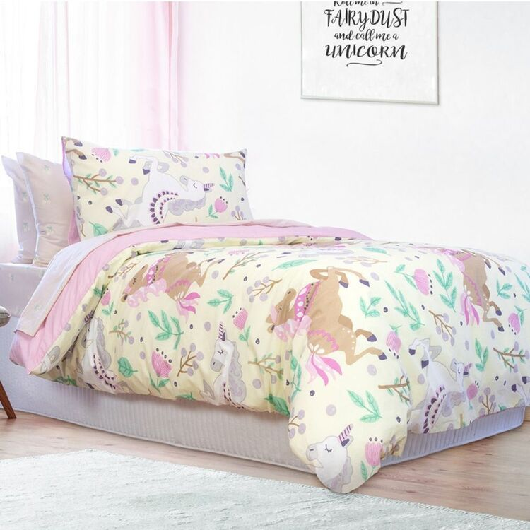 JELLY BEAN KIDS MERIDETH POLYCOTTON QUILT COVER SET SINGLE BED