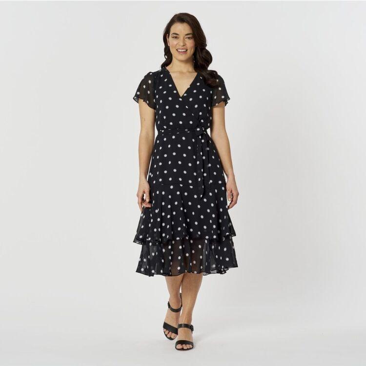 JANE LAMERTON Cold Shoulder Spot Dress
