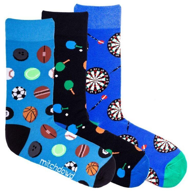 MITCH DOWD Mitch Dowd Sports Balls 3 Pack Socks
