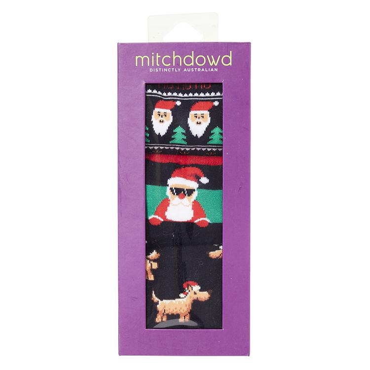 MITCH DOWD Mitch Dowd Xmas Novelty 3 Pack Socks