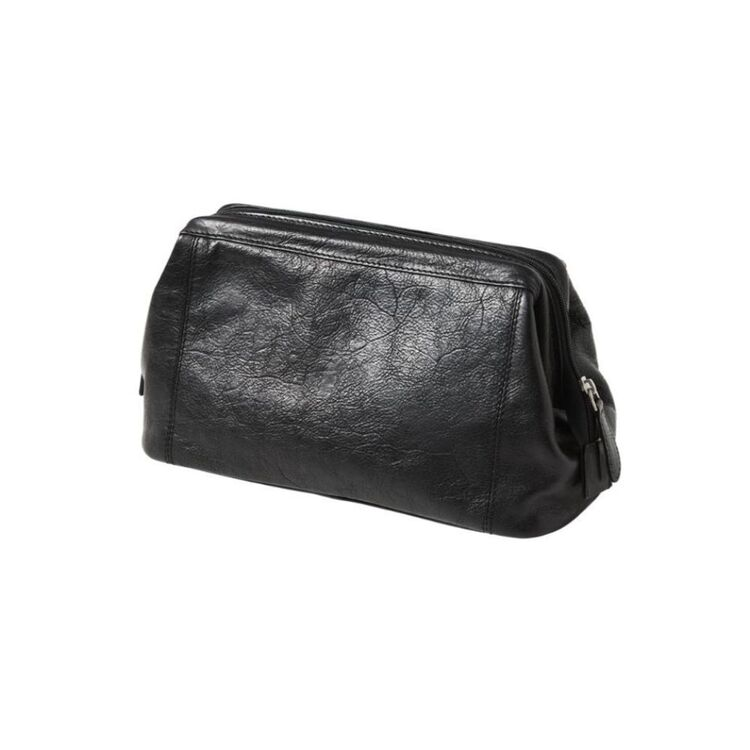 PIERRE CARDIN LEATHER TOILETRY BAG