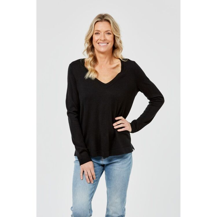 KHOKO COLLECTION VEE NECK KNIT