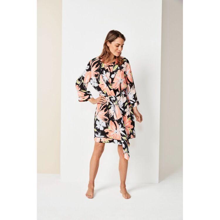 VOYAGER Jane Lamerton Floral Kimono Gown