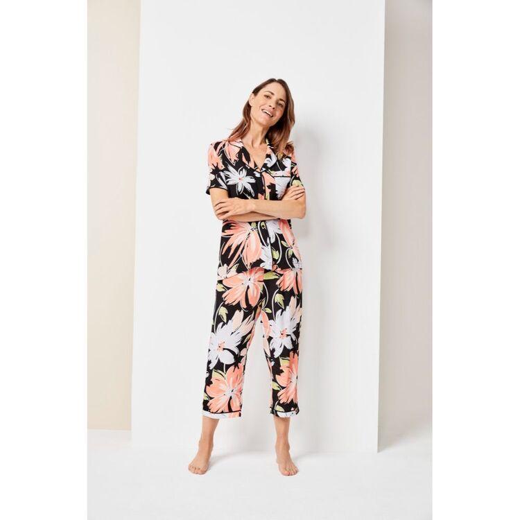 Jane Lamerton Floral 3/4 Pant Set