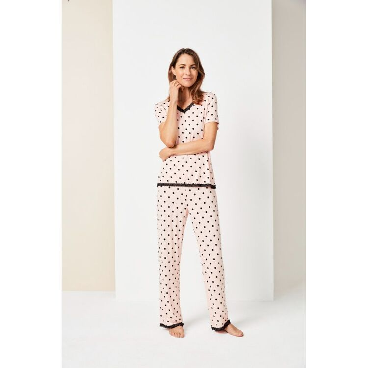 Jane Lamerton Spot Lace Sleep Pant