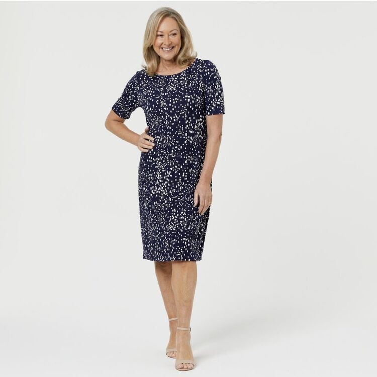 SAVANNAH JERSEY SHIFT DRESS