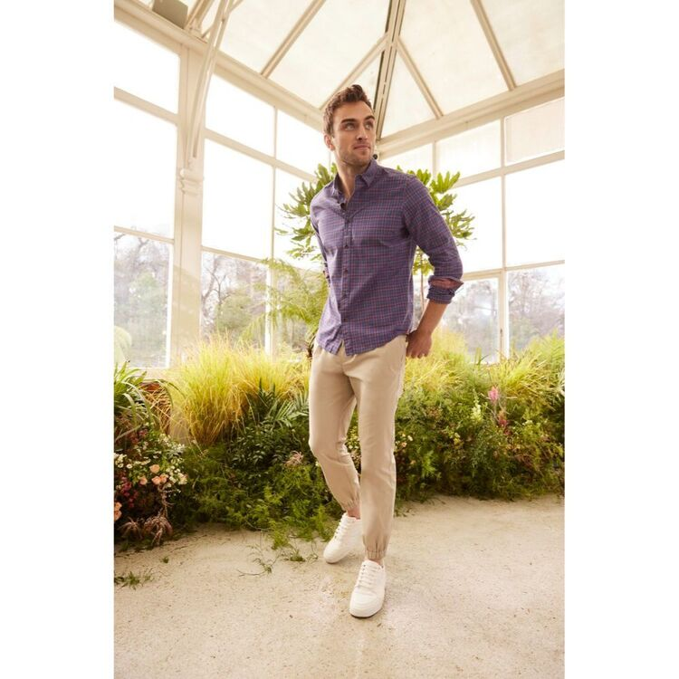 BROOKSFIELD COTTON SLIM FIT CASUAL CHINO