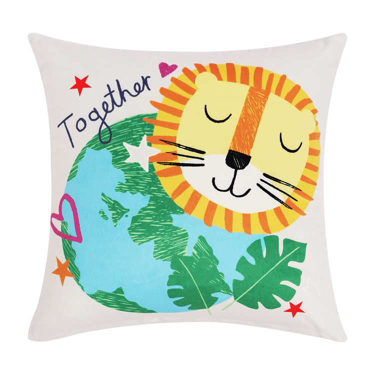 HAPPY KIDS Our Planet Filled Cushion 40X40CM