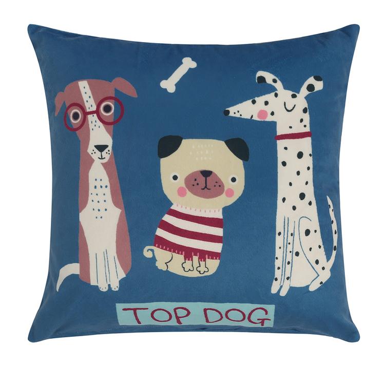 HAPPY KIDS Puppy Club Filled Cushion 40X40CM