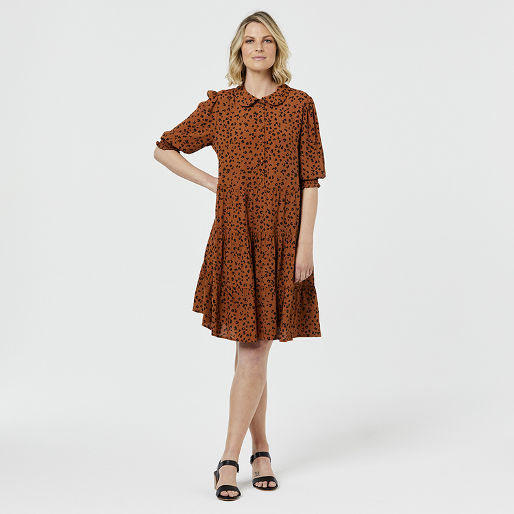 LEONA EDMISTON RUBY TIERED TUNIC DRESS