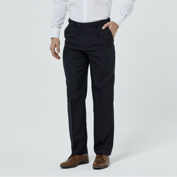 FARAH Carlton Single Pleat Front Trouser withComfort Stretch Waistband
