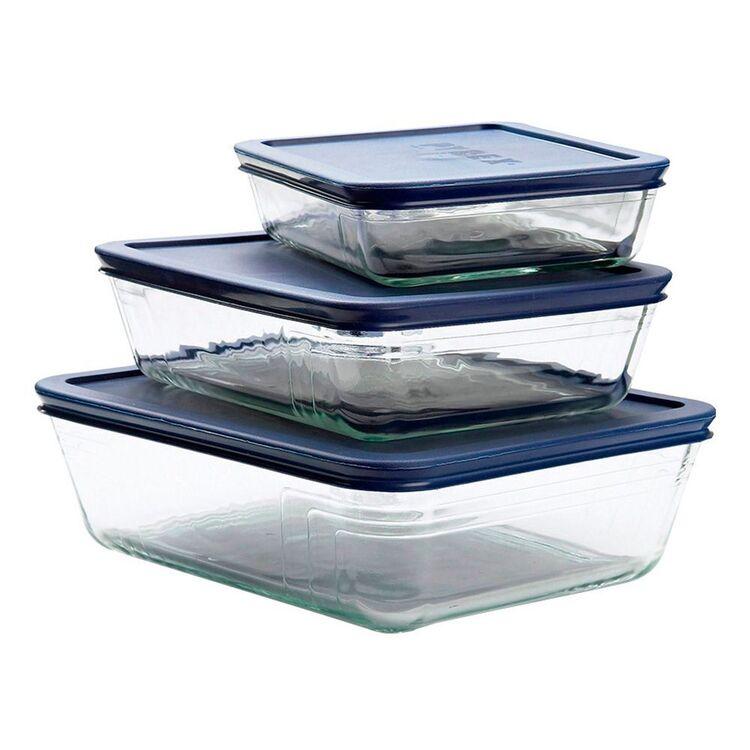 PYREX Glass Oblong Food Storage 6pc