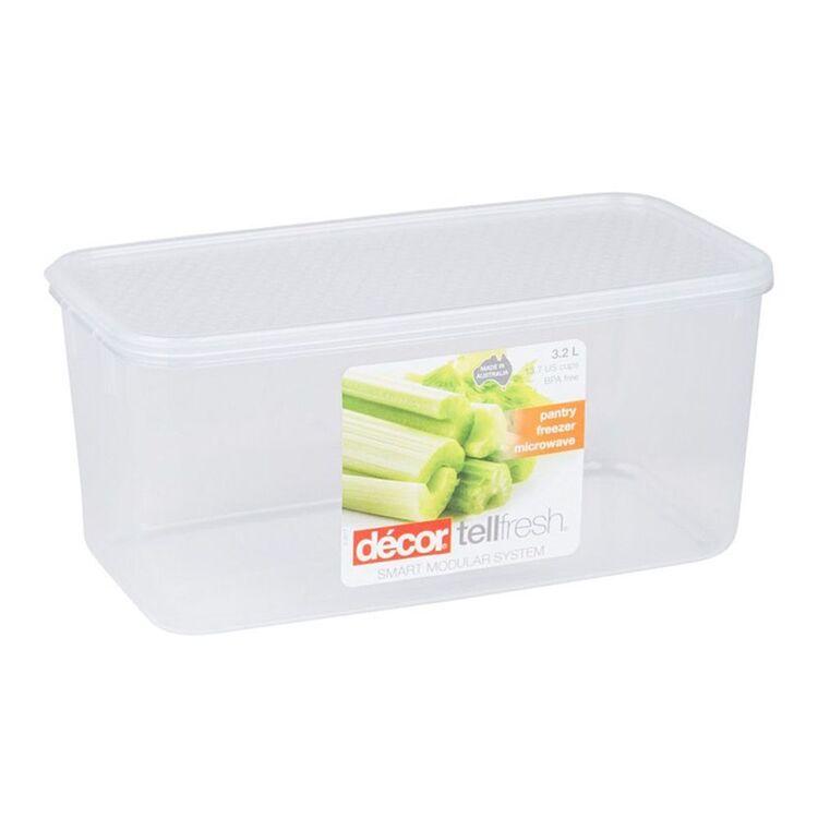 DECOR Tellfresh Plastic Oblong Food Storage Container 3.25L