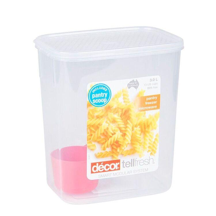 DECOR Tellfresh Plastic Tall Oblong Food Storage Container 3L