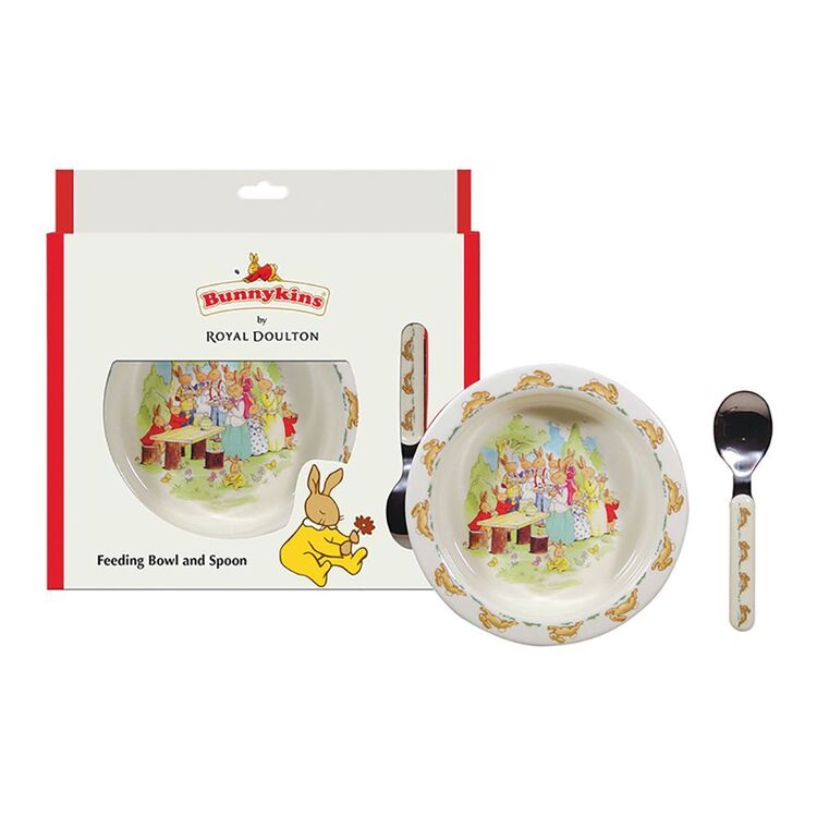 BUNNYKINS Running 3 piece Bowl, Fork and Spoon Set