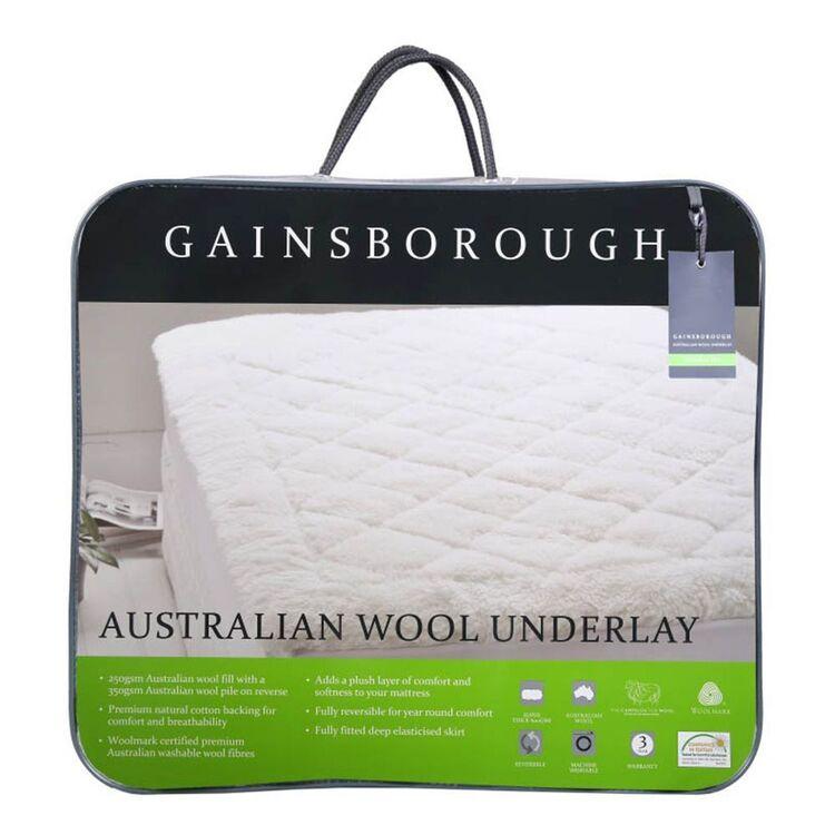 GAINSBOROUGH Australian Wool Underlay Queen Bed