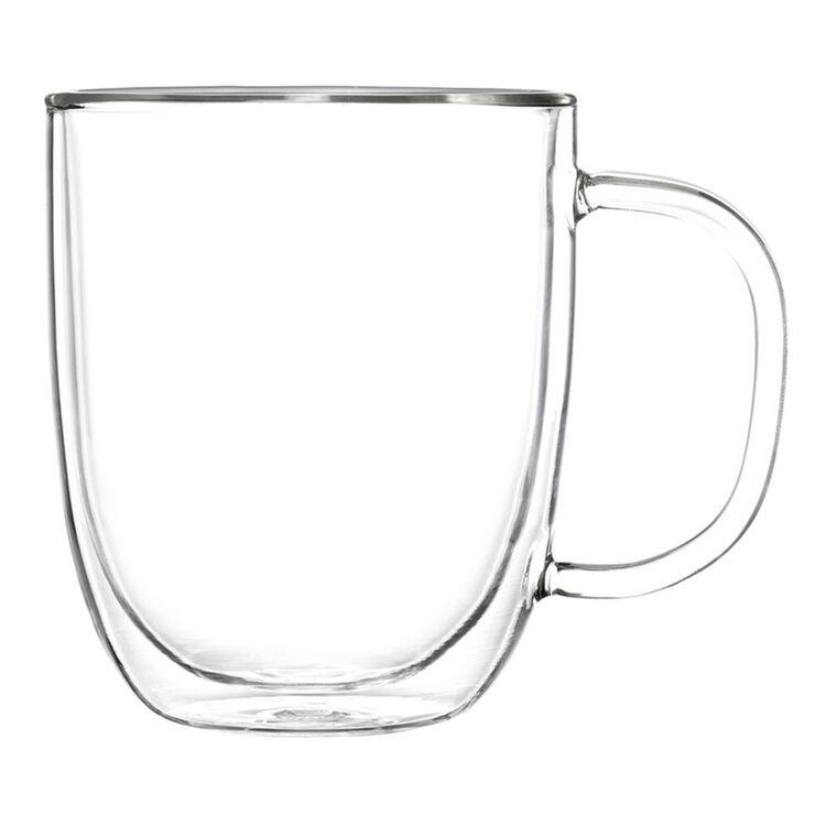 PYREX Double Wall 2pc Coffee/Tea Mugs 250ml