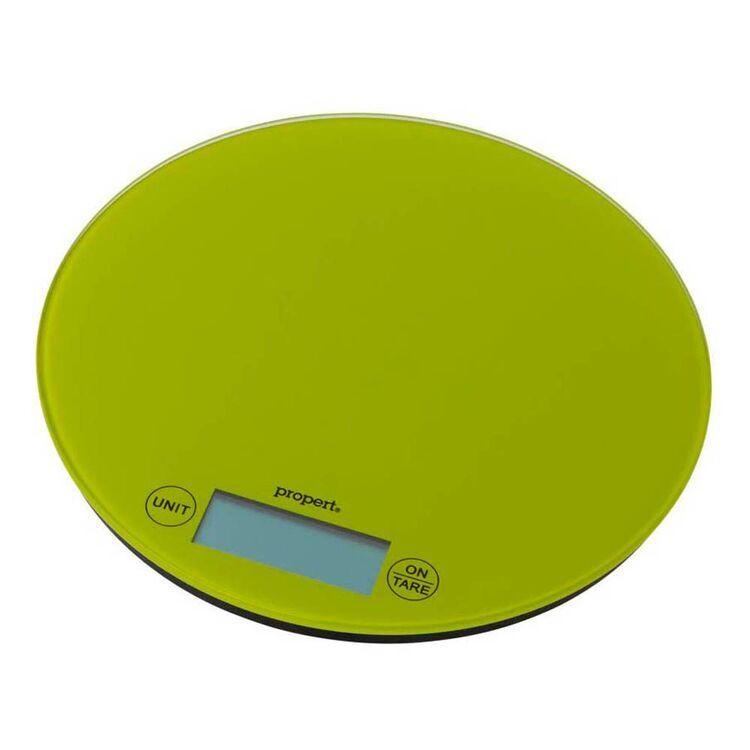 PROPERT 5Kg Glass Scale Round Green