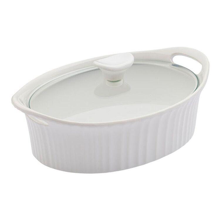 CORNINGWARE French White Ovenware Oval Casserole 2.35L