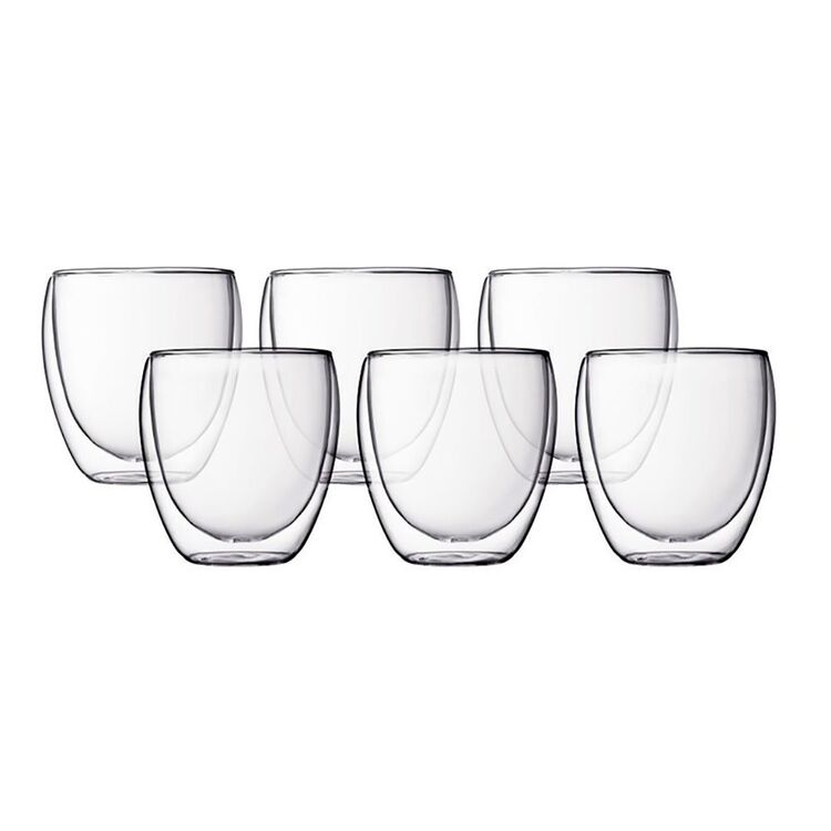 CLASSICA Java 6pc Double Wall Tea/Coffee Glass 250ml