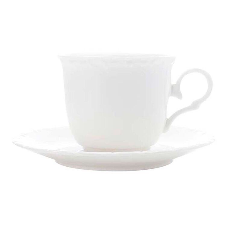 CASA DOMANI Casual White Florence Teacup and Saucer200ml