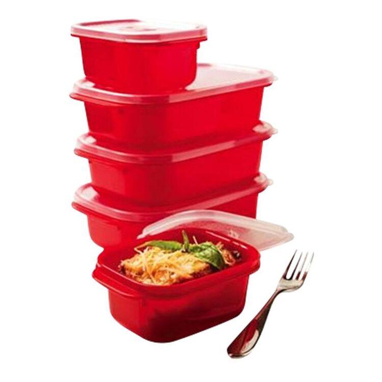 DECOR Microsafe Oblong Food Storage 5pk Container Set