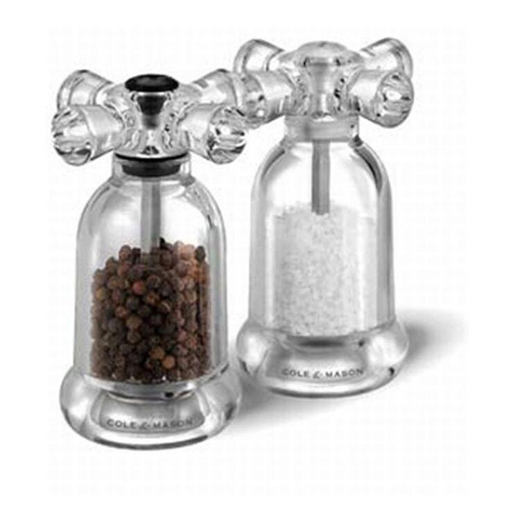 COLE & MASON Tap Salt And Pepper Grinder Set