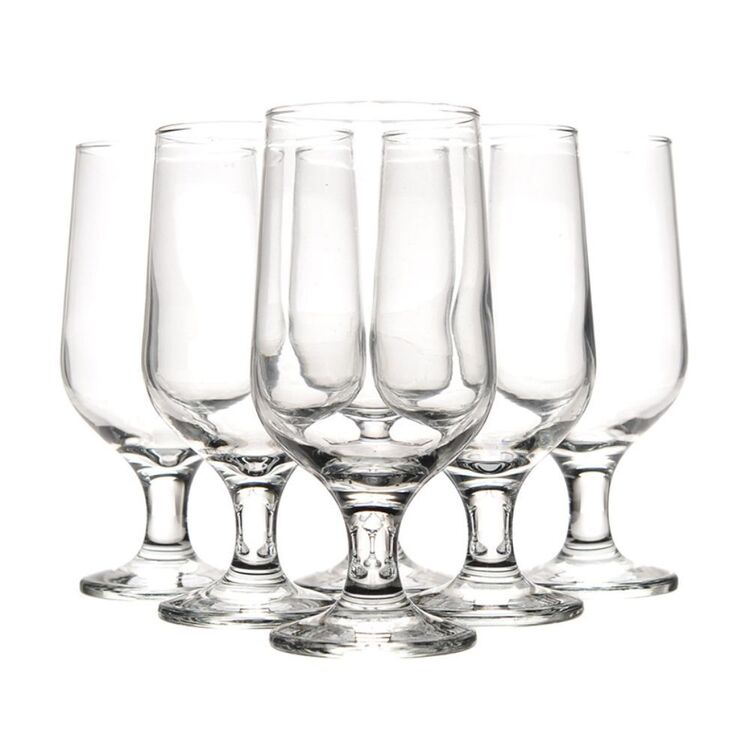 ART CRAFT Aiden 6pc Footed Beer Glass Set