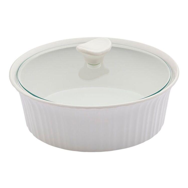 CORNINGWARE French White Ovenware Round Casserole 2.35L