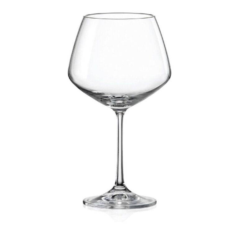 KRYSTAL Amira 6pc Burgundy Glass Set 580ml