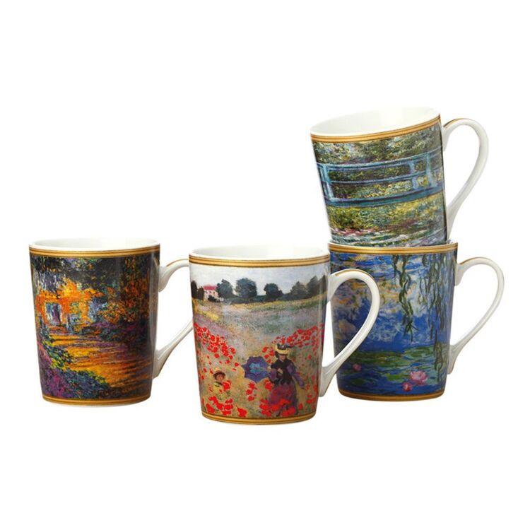 CASA DOMANI Impressions Monet 4pc Mug Set 400ml