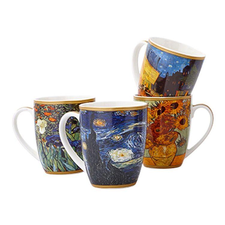 CASA DOMANI Impressions Van Gogh 4pc Mug Set 400ml