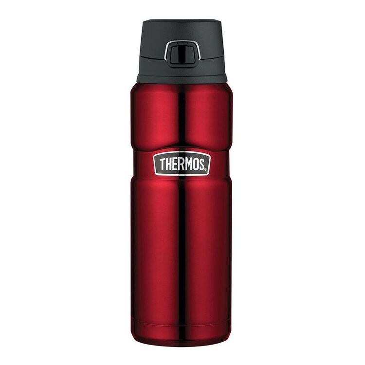 THERMOS King Stainless Steel Red Flip Bottle 710mL