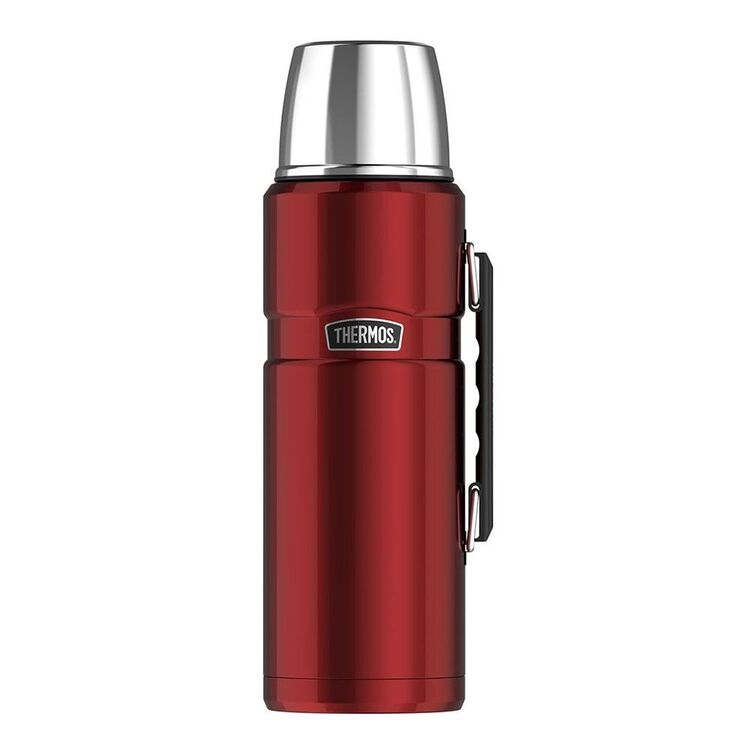 THERMOS King Stainless Steel Red Flask 2L
