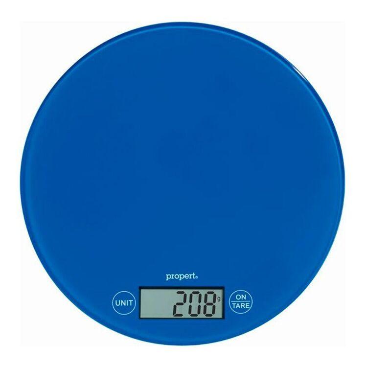 PROPERT 5Kg Glass Scale Round Blue