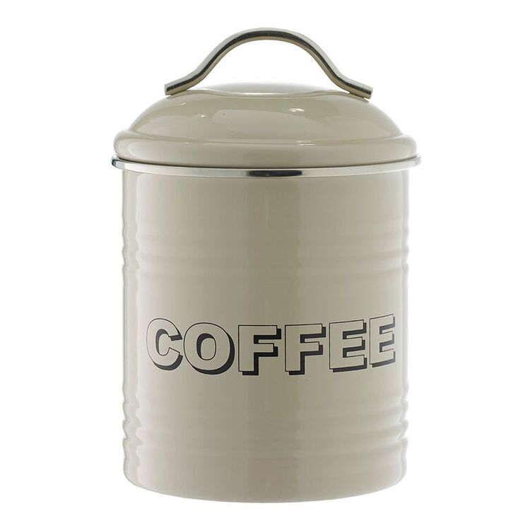 SMITH & NOBEL Retro Coffee Canister Taupe