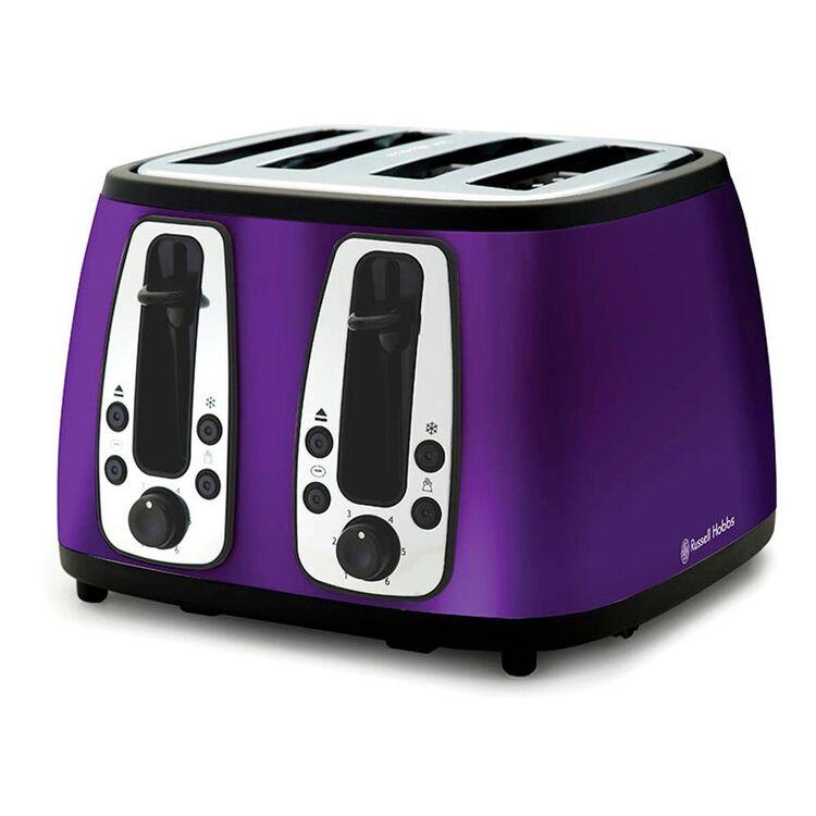 RUSSELL HOBBS Heritage 4 Slice Toaster Purple