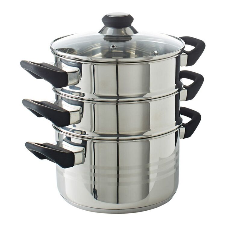 SMITH & NOBEL Traditions 3pc Stainless Steel Steamer 20cm