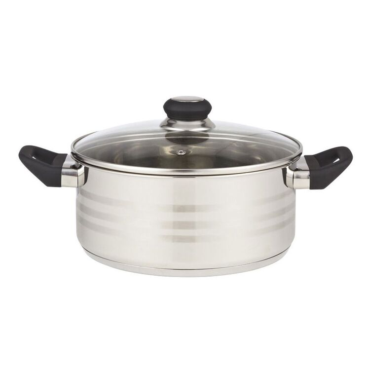 SMITH & NOBEL Traditions Stainless Steel Casserole 24cm